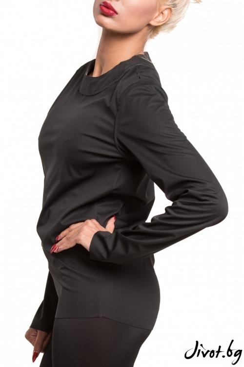 Дълга дамска блуза с две лица / TONI DARK