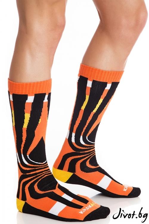 Мъжки чорапи Tequila Sunrise Orange / Krak me