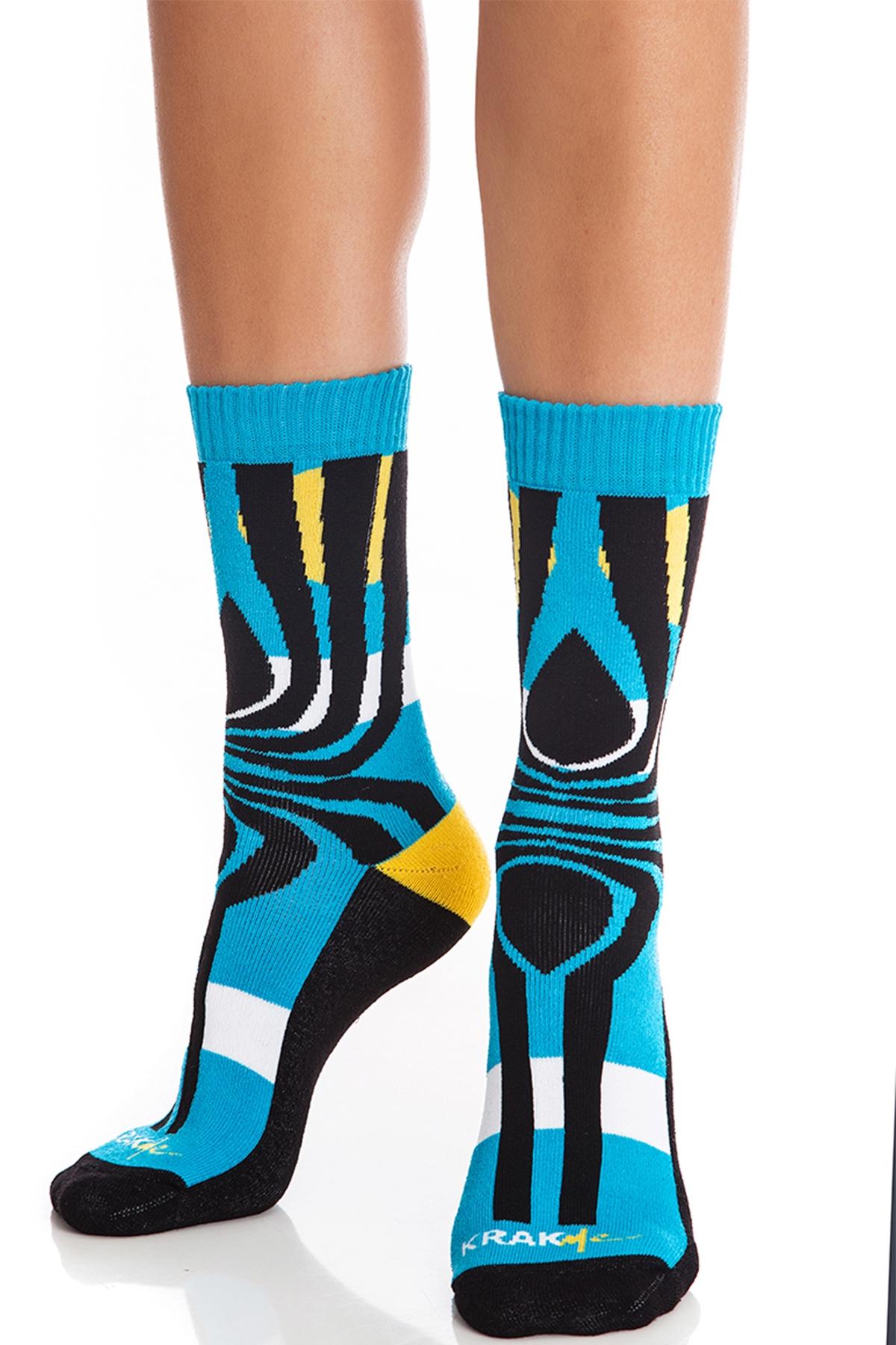 Дамски чорапи Tequila Sunrise Blue / Krak me