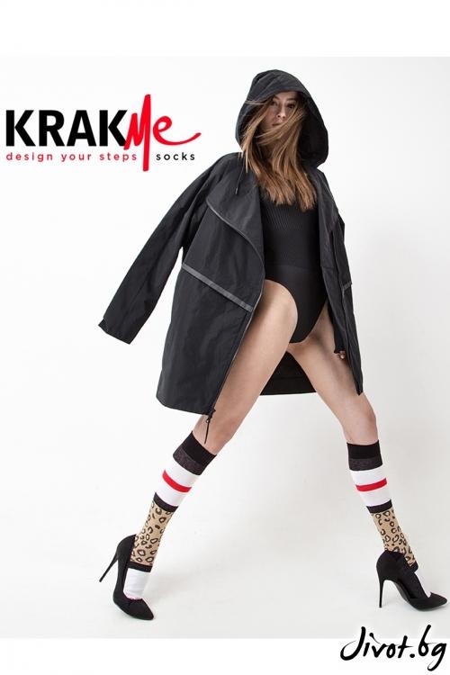 Уникални три-четвърти дамски чорапи The Leo Ankle / Krak me