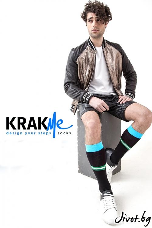 Три-четвърти мъжки чорапи M Power / Krak me