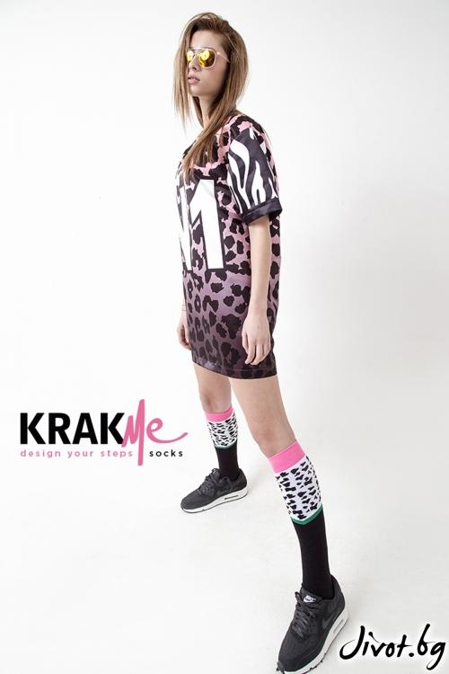 Дамски три-четвърти чорапи Bengali / Krak me