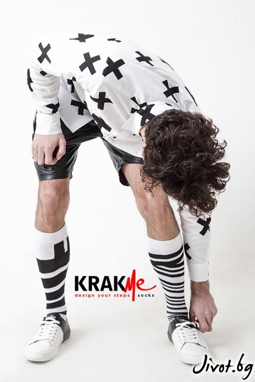 Три-четвърти мъжки чорапи Samurai / Krak me