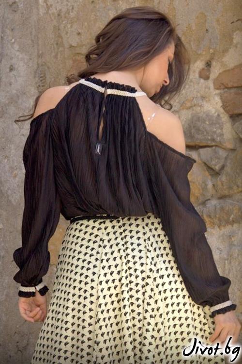 Черна дамска блуза/туника / Aleniа
