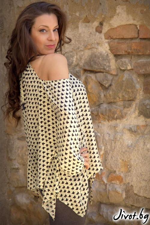 Дамска блуза/туника със свободен силует / Aleniа