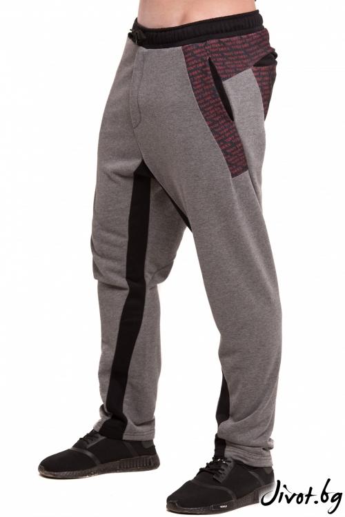 Спортен сив панталон с принт / TONI DARK