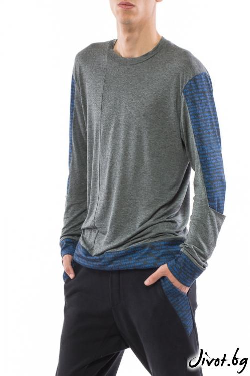 Сива блуза с дълъг ръкав / TONI DARK
