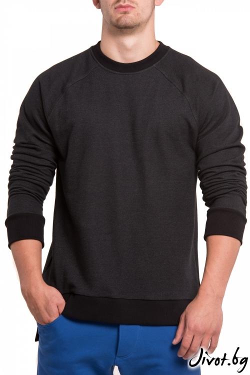 Черна блуза с удължена задна част / TONI DARK