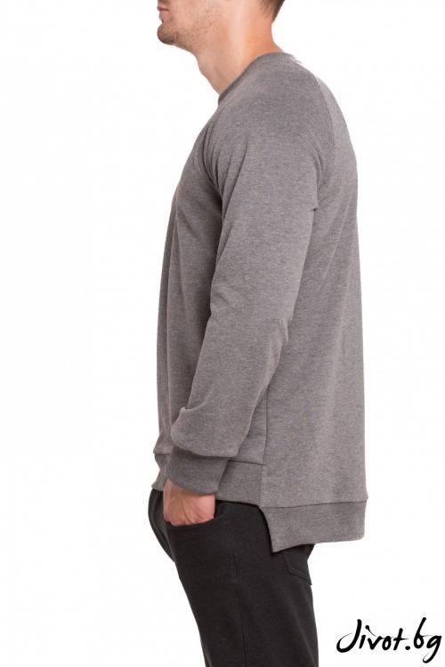 Сива блуза с удължена задна част / TONI DARK