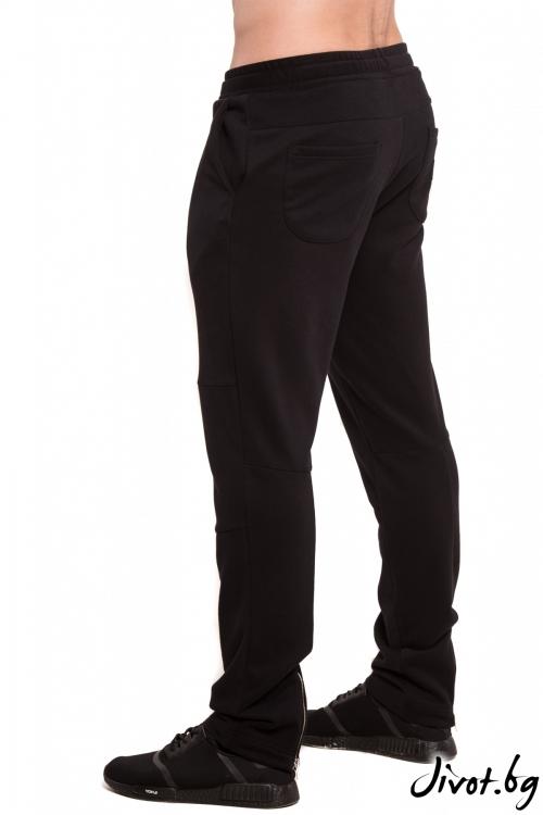Мъжки черен спортен панталон / TONI DARK