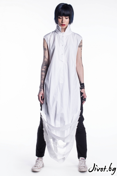 Бяла женска дълга риза / Maria Queen Maria