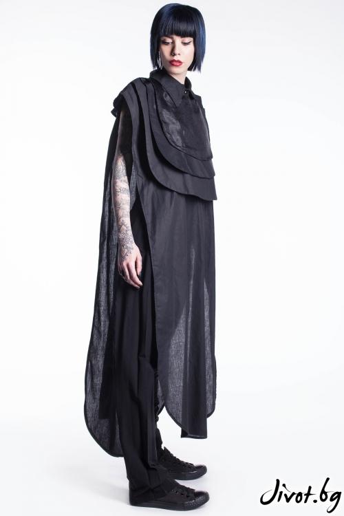 Екстравагантна черна риза / Maria Queen Maria