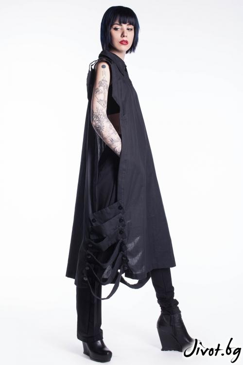 Черна туника/риза за лятото / Maria Queen Maria