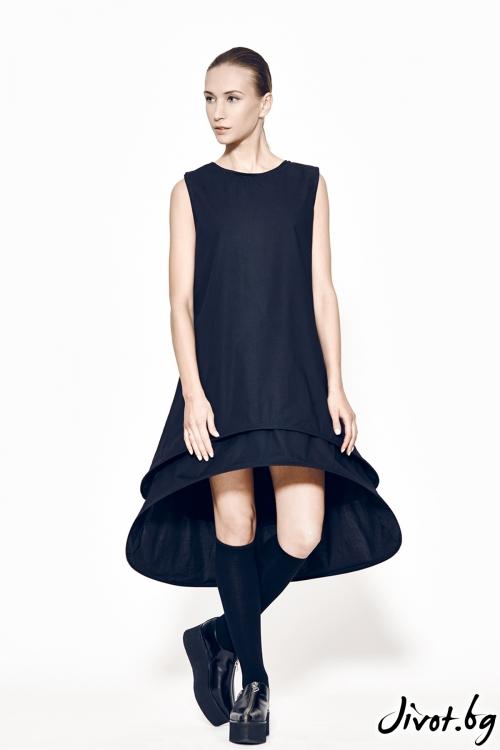 Черна дамска деконструктива рокля MARIA QUEEN MARIA