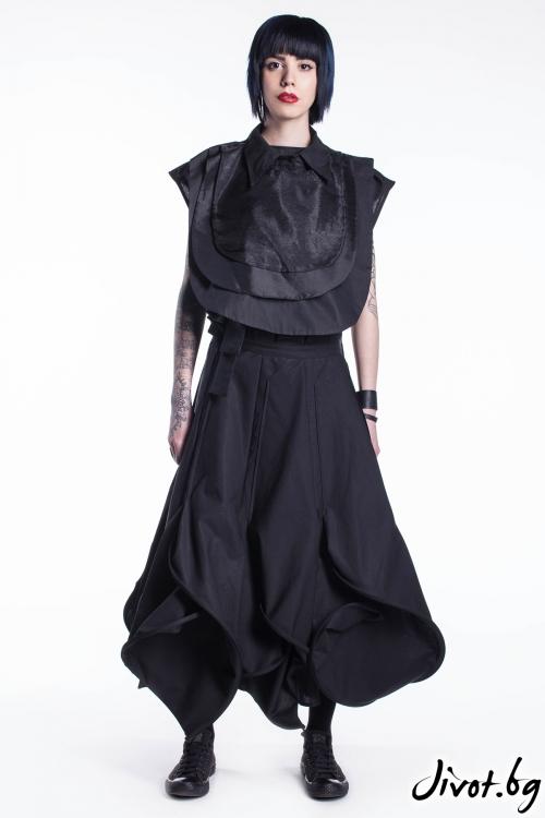 Дълга черна пола / Maria Queen Maria