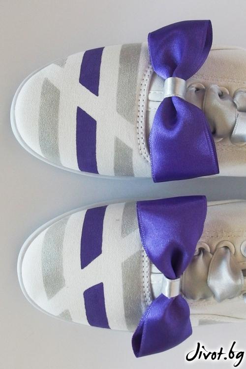 Спортни обувки със сатенени панделнки / FETSKI