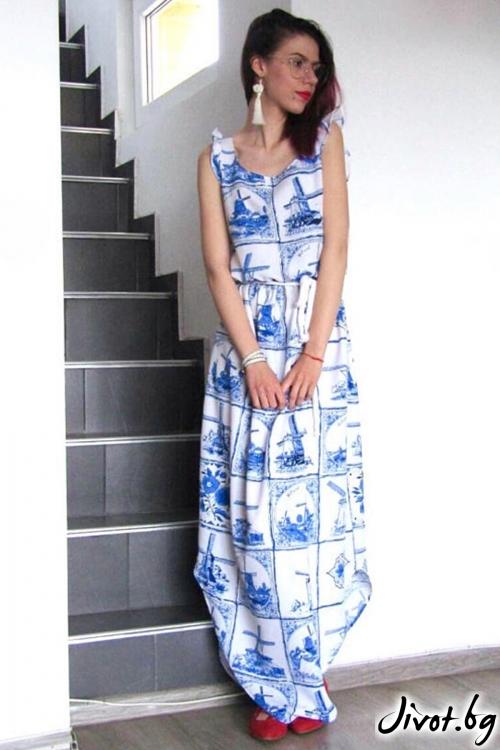 Макси рокля с принтове / FABRA MODA STUDIO