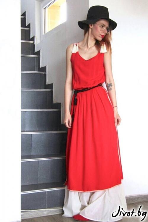 Макси рокля в бохо стил / FABRA MODA STUDIO