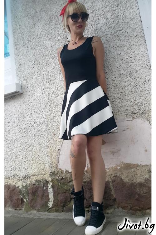 Двуцветна къса рокля / Jeni&Migla