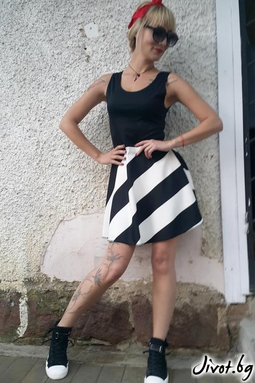 Уникална дамска къса рокля / Jeni&Migla