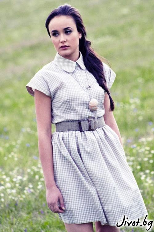 Рокля от памук и коприна / Модна къща АМБИЦИЯ