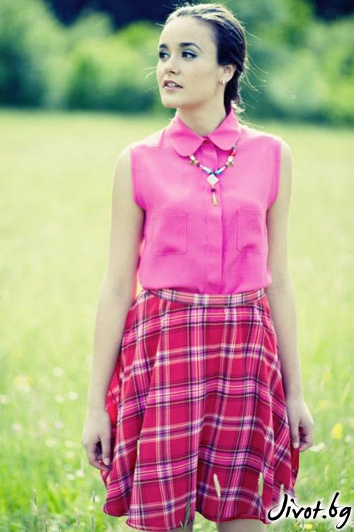 Розова риза без ръкави от вискоза / Модна къща АМБИЦИЯ