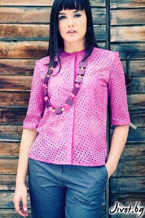 Блуза от рязан памук / Модна къща АМБИЦИЯ