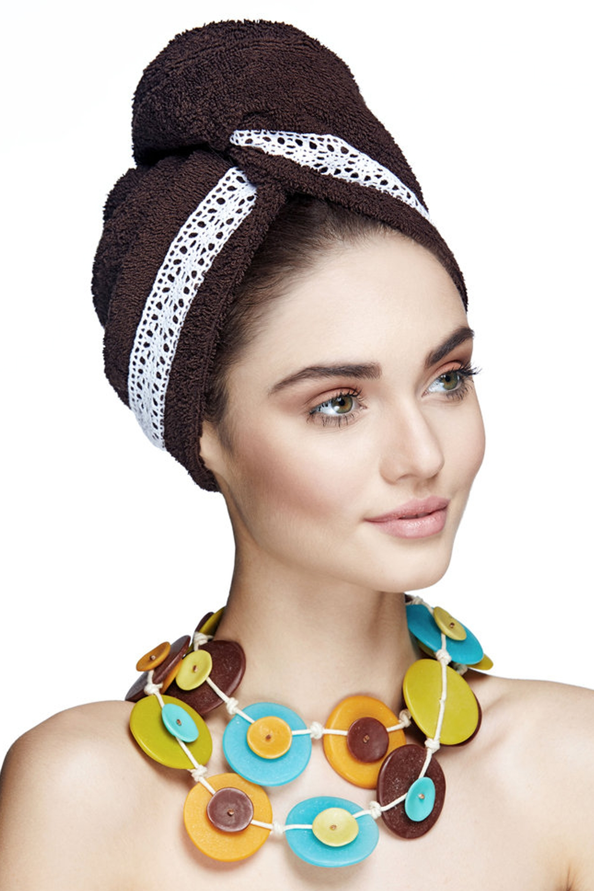 Кърпа за коса GRACE BROWN - ЗА БОЯДИСАНИ КОСИ / AGLIQUE