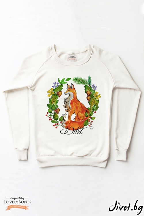 "Дамски суичър ""Wild portrait"" / LovelyBones Clothing"
