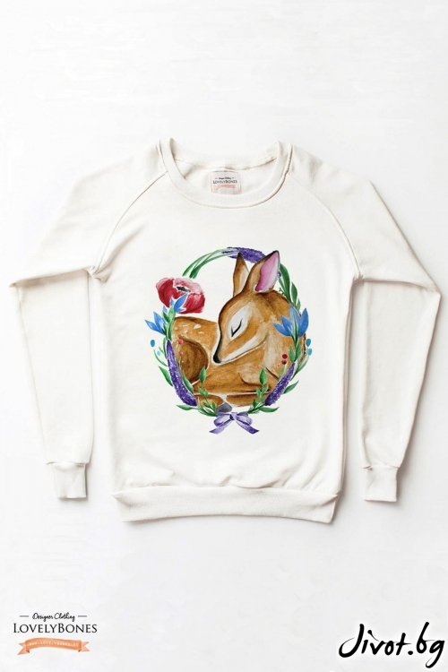 "Дамски суичър ""A Wild Thing"" / LovelyBones Clothing"