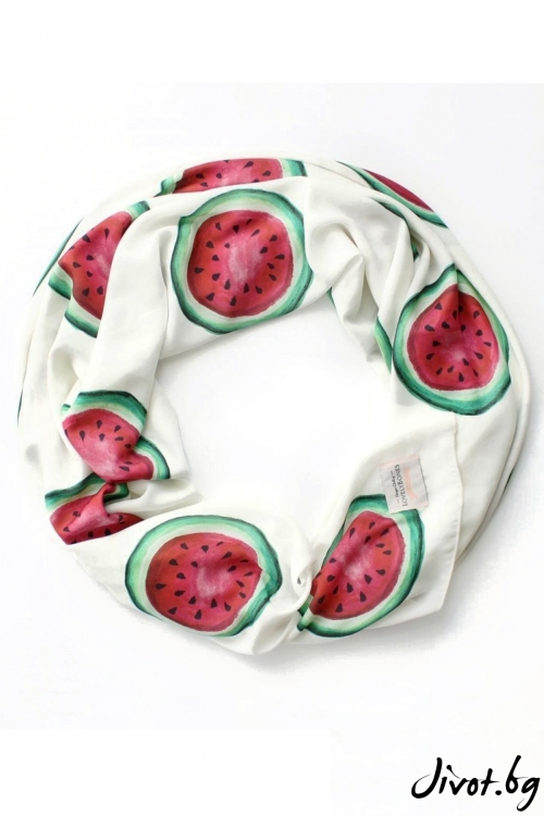 "Дамски шал ""Watermelon"" / LovelyBones Clothing"