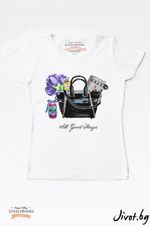"Дамска тениска ""All good things"" / LovelyBones Clothing"