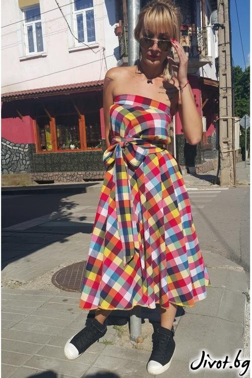 Уникална дамска дълга рокля / Jeni&Migla