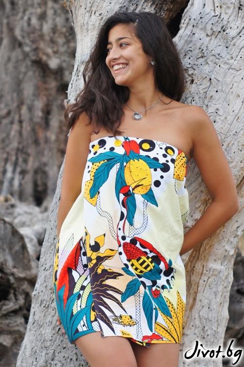 """Плажна рокля,парео и кърпа в едно """"Jungle"""""""