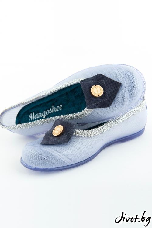 "Дамски прозрачни мангоши ""Морско синьо"" / KIPRA"