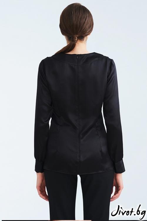 Черна копринена риза / Lila Style House