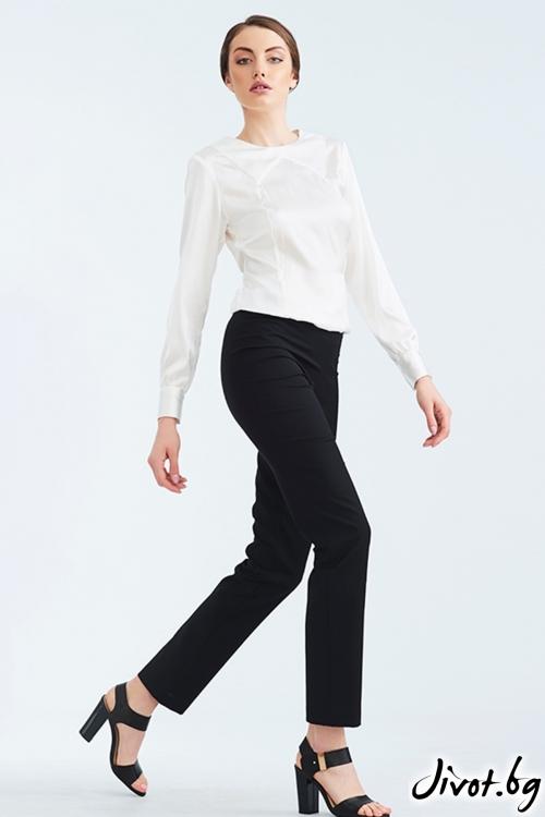 Черен прав дамски панталон / Lila Style House