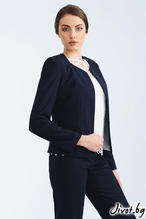 Тъмно синьо късо сако / Lila Style House
