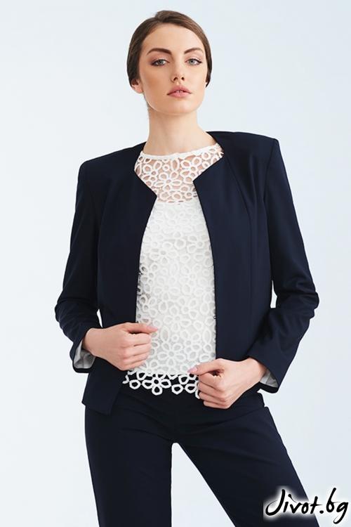 Бяла дантелена блуза / Lila Style House