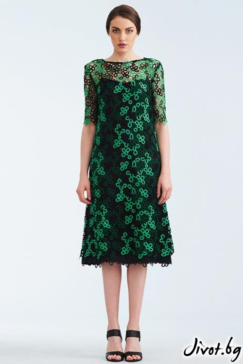 Рокля от дантела в зелено и черно / Lila Style House