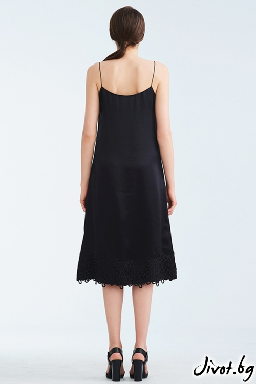 Черен копринен комбинезон / Lila Style House