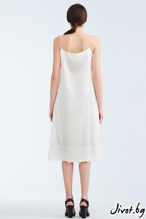 Бял копринен комбинезон / Lila Style House
