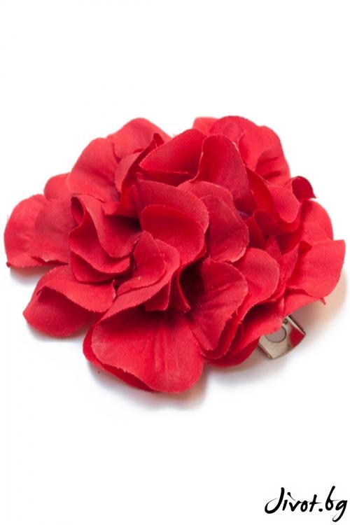 """Ръчно изработена фиба цвете """"Tamara"""" / Forget-me-not"""