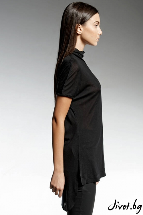 Уникална черна дълга тениска / PENDARI