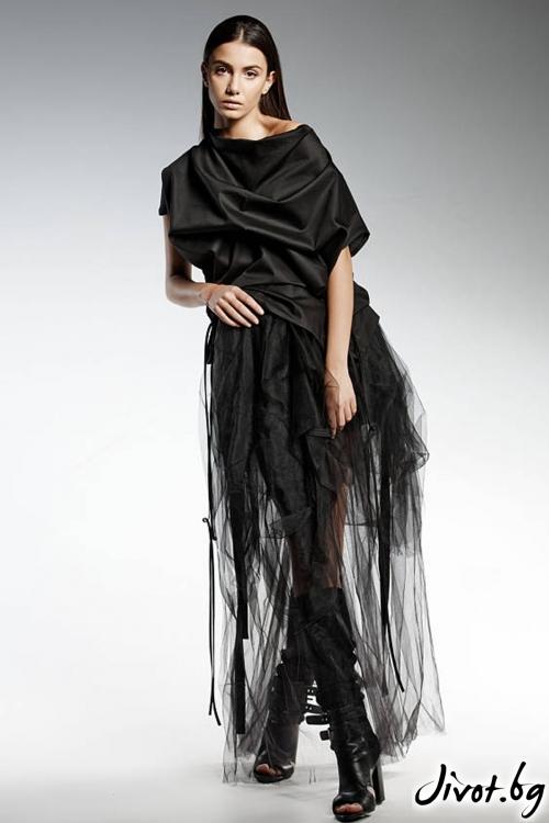 Красива черна пола от тюл / PENDARI