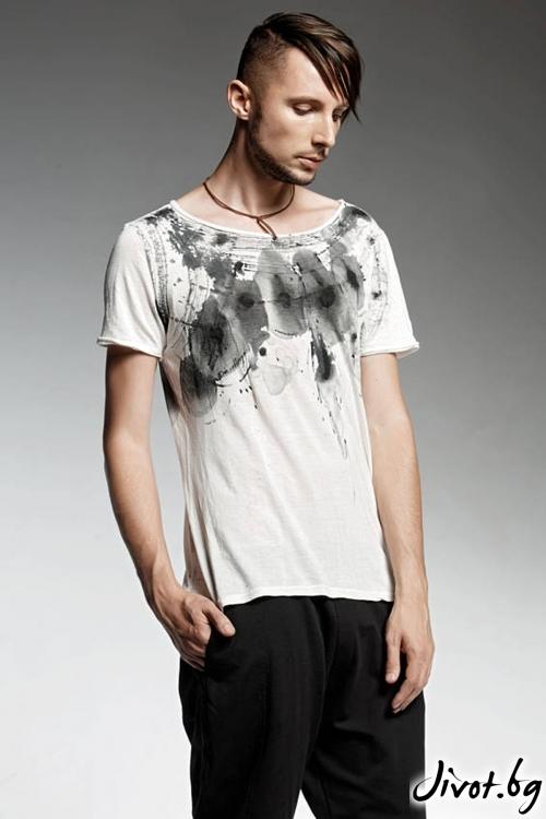 Мъжка ръчно рисувана тениска OMI / PENDARI