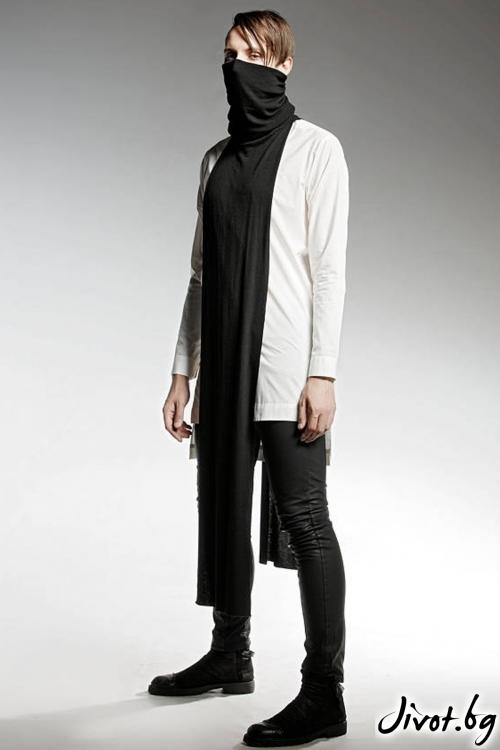 Дълга бяла мъжка риза / PENDARI