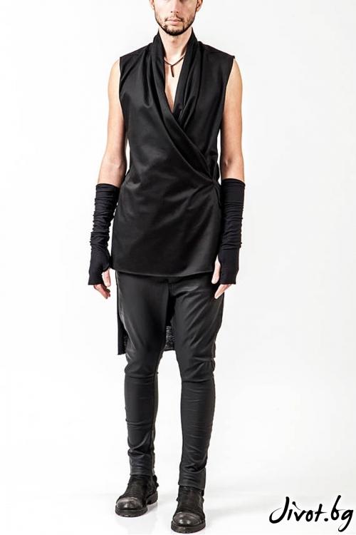 Черна риза без ръкави / PENDARI