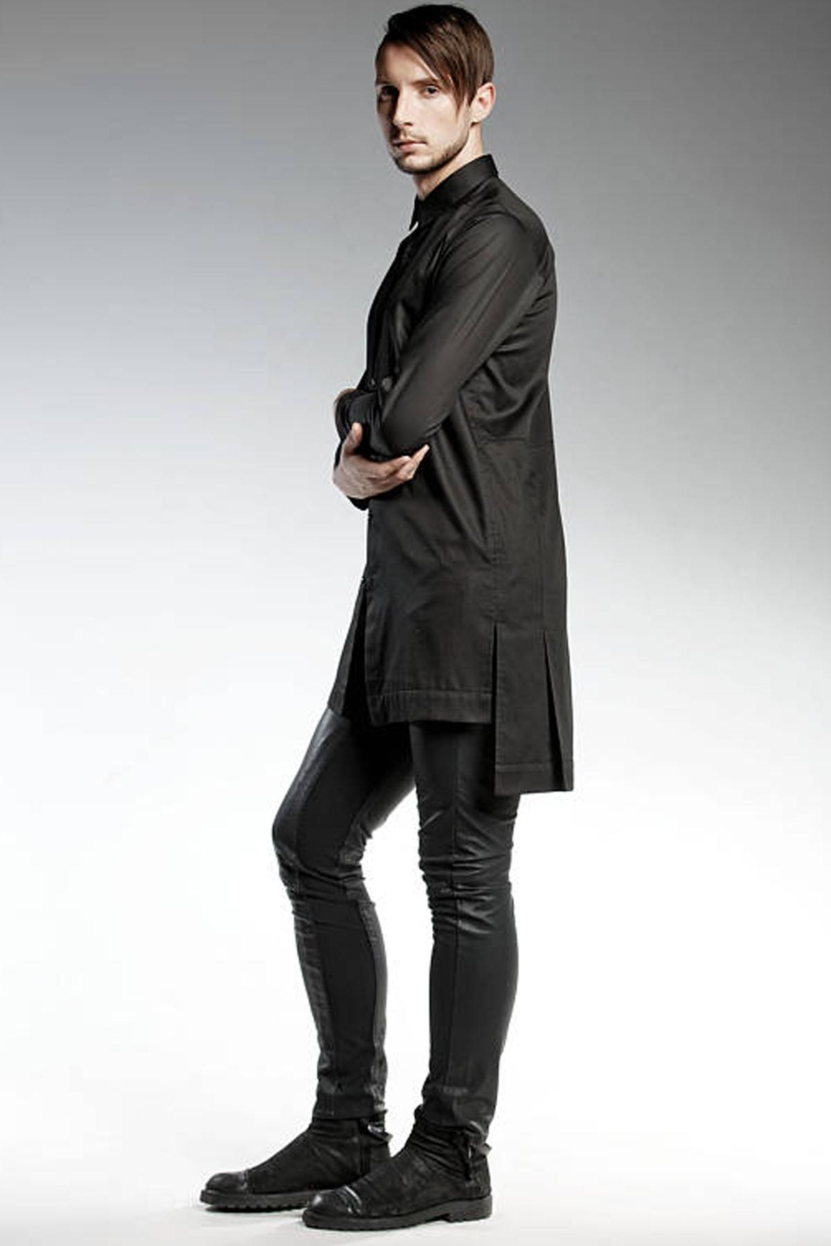 Черни слим фит панталони / PENDARI