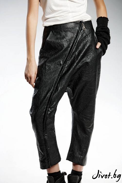 Черни панталони от изкуствена кожа / PENDARI